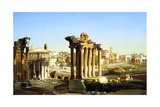 Foro Romano Giclee Print by Ippolito Caffi