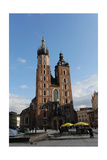 Poland. Krakow. View of the Central Market Square with Saint Mary's Basilica Founded in 1222 by… Giclee Print