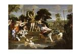 The Hunt of Diana Giclée-tryk af Domenichino