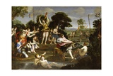 The Hunt of Diana Giclee Print by  Domenichino