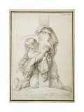 Mary Magdalene at the Foot of the Cross, C.1780 Giclee Print by Giuseppe Cades
