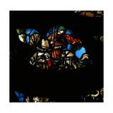 The West Rose Window Depicting a Scene from the Book of Revelation: a Man on Another Horse (Not… Giclee Print