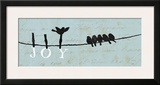 Birds on a Wire - Joy Prints by Alain Pelletier