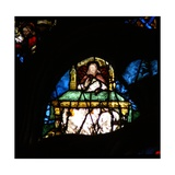 The West Rose Window Depicting a Scene from the Book of Revelation: Souls of the Martyrs under… Giclee Print