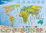 Geographical Map : Peoples of the World Plakat