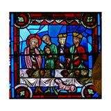 Window W0 Depicting a Scene from the Life of St Thomas: with Gundaphorus Giclee Print