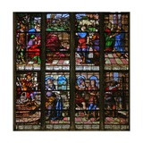 Window W113 Depicting Joseph Is Accused by Potiphar; He Explains His Dream to Pharaoh Giclee Print