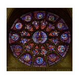 The West Rose Window, Depicting the Last Judgement Giclee Print