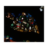 The West Rose Window Depicting a Scene from the Book of Revelation: a Man on a White Horse with a… Giclee Print