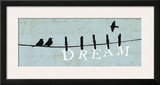 Birds on a Wire - Dream Poster by Alain Pelletier