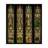 Window N2 Depicting St John, St Gregory, St Leonard and St Andrew Giclee Print