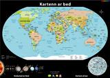 Carte du Monde en Breton (Kartenn ar bed e brezhoneg) Plakater