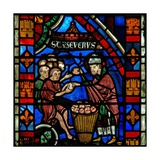 Window W51 Depicting St Sever Distributes Food to the Poor Giclee Print