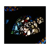 The West Rose Window Depicting a Scene from the Book of Revelation: Souls Being Arrayed in White… Giclee Print