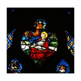The West Rose Window Depicting a Scene from the Book of Revelation: Opening of the Third Seal,… Giclee Print
