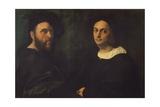 Double Portrait, C.1516 Reproduction procédé giclée par Sanzio Of Urbino Raphael
