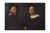 Double Portrait, C.1516 Giclee Print by  Raphael