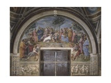 The Parnassus, from the Stanza Della Segnatura, 1511 Reproduction procédé giclée par  Raphael