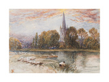 Holy Trinity Church on the Banks If the River Avon, Stratford-Upon-Avon, C.1870 Giclee Print by Myles Birket Foster