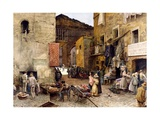 Road by the Porticus Octaviae, 1888 Giclee Print by Ettore Roesler Franz