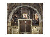 The Liberation of Saint Peter, Stanza Di Eliodoro, 1514 Impression giclée par  Raphael