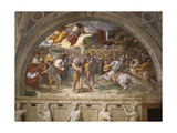 The Meeting of Leo the Great and Attila, Stanza Di Eliodoro, 1514 Reproduction procédé giclée par  Raphael