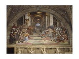 The Expulsion of Heliodorus from the Temple, Stanza Di Eliodoro, 1511-12 Reproduction procédé giclée par  Raphael