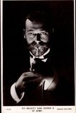 Ak His Majesty King George V. at Home, Lighting a Cigarette Photographic Print