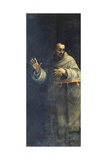 St Francis of Assisi, C.1510s-20s Giclée-tryk af Sebastiano del Piombo