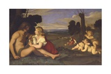 The Three Ages of Man Giclee Print by  Giovanni Battista Salvi da Sassoferrato