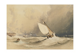 Ships at Sea Off Folkestone Harbour, Storm Approaching, 1843 Giclee Print by Anthony Vandyke Copley Fielding