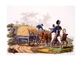 Uniform of Royal Artillery Drivers (With Wagon and Camp), from 'Costume of the British Empire,… Giclee Print by Charles Hamilton Smith