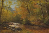 Brook in Woods Giclée-tryk af Albert Bierstadt