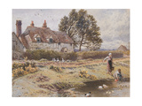 On the Common, Hambledon, Surrey, C.1865 Giclee Print by Myles Birket Foster
