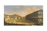 View of a Street in Naples Giclee Print by Gaspar van Wittel