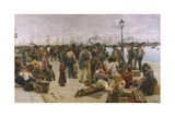 Emigrants Giclee Print by Adolfo Tommasi