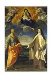 The Virgin and Child with Saint Anthony and Saint Teresa Giclee Print by Guido Reni