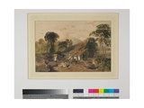 Landscape with Cottage and Figure, C.1810 Giclee Print by Peter De Wint