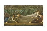 Sleeping Beauty, Illustration from 'The Legend of the Briar Rose', 1871-72 Giclee Print by Sir Edward Coley Burne-Jones