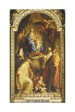 Madonna and the Blessed Gabrielli Family Giclee Print by Pompeo Girolamo Batoni