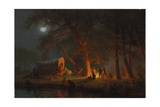 Oregon Trail Giclee Print by Albert Bierstadt