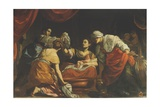 The Birth of the Virgin, C.1620 Giclee Print by Simon Vouet