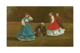The Croquet Game, 1866 Giclee Print by Winslow Homer