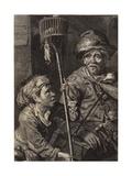 Rat Catchers Giclée-Druck von Cornelis Visscher