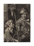 Rat Catchers Giclee Print by Cornelis Visscher