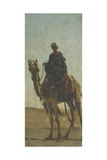 Camel-Drivers in the Desert Giclee Print by Cesare Biseo