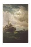 Battleship Lepanto Giclee Print by Eduardo de Martino
