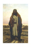 A Bedouin Man at Prayer Giclee Print by Stefano Ussi