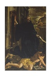 St. Augustine Dispels the Heretics Giclée-tryk af Giovanni Lanfranco