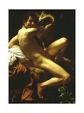 St John the Baptist, 1602 Giclée-tryk af Caravaggio